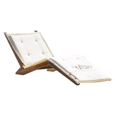 Bay Isle Home Antonetta Chaise Lounge with Cushion Color: Ivory