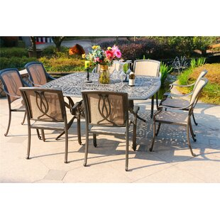 Bane Aluminum 9 Piece Dining Set