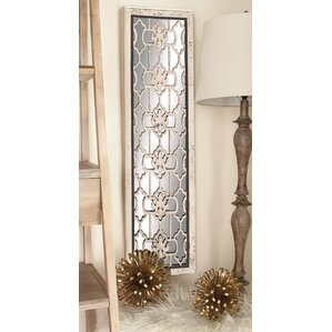 2 piece wood mirror panel wall dcor set set of 2
