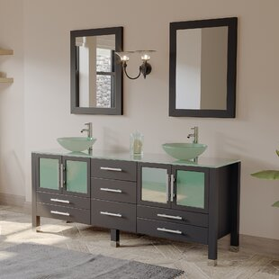 Grand Emerald 71 inch  Double Bathroom Vanity Set with Mirror