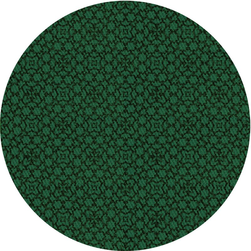 East Urban Home Sior Geometric Wool Dark Green Area Rug Wayfair