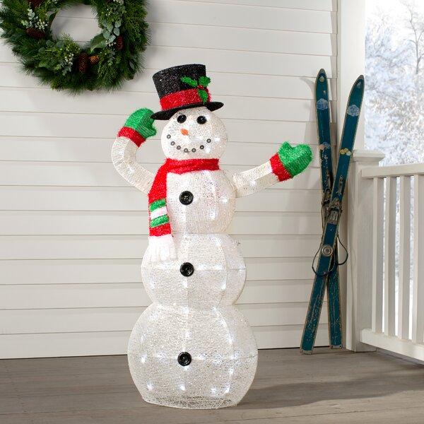 Outdoor Prelit Snowman Wayfair