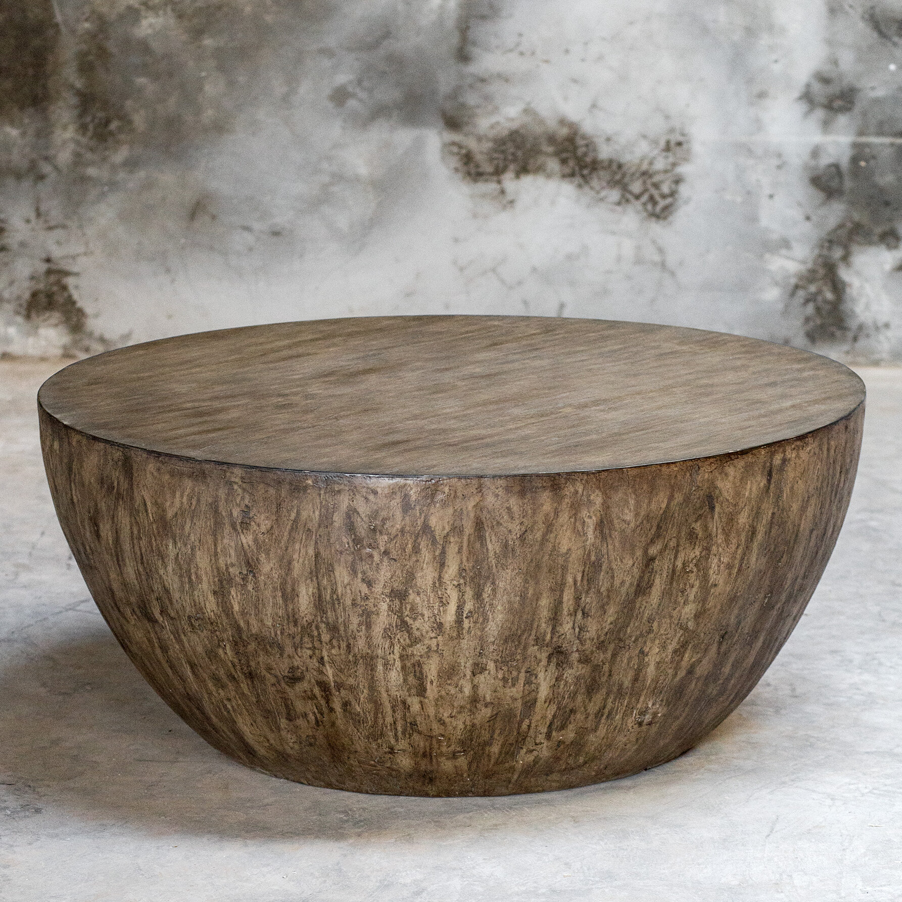 Round Wood Coffee Table.Aron Round Wood Coffee Table