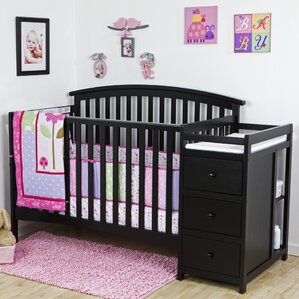 Niko 5 In 1 Convertible Crib And Changer Combo