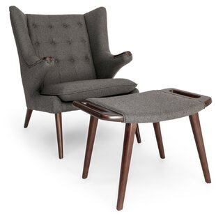 Check Prices Bear Wing back Chair and Ottoman by Kardiel