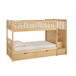 Compare prices Kibler Elric Staircase Twin Bunk Bed with Storage By Zoomie Kids