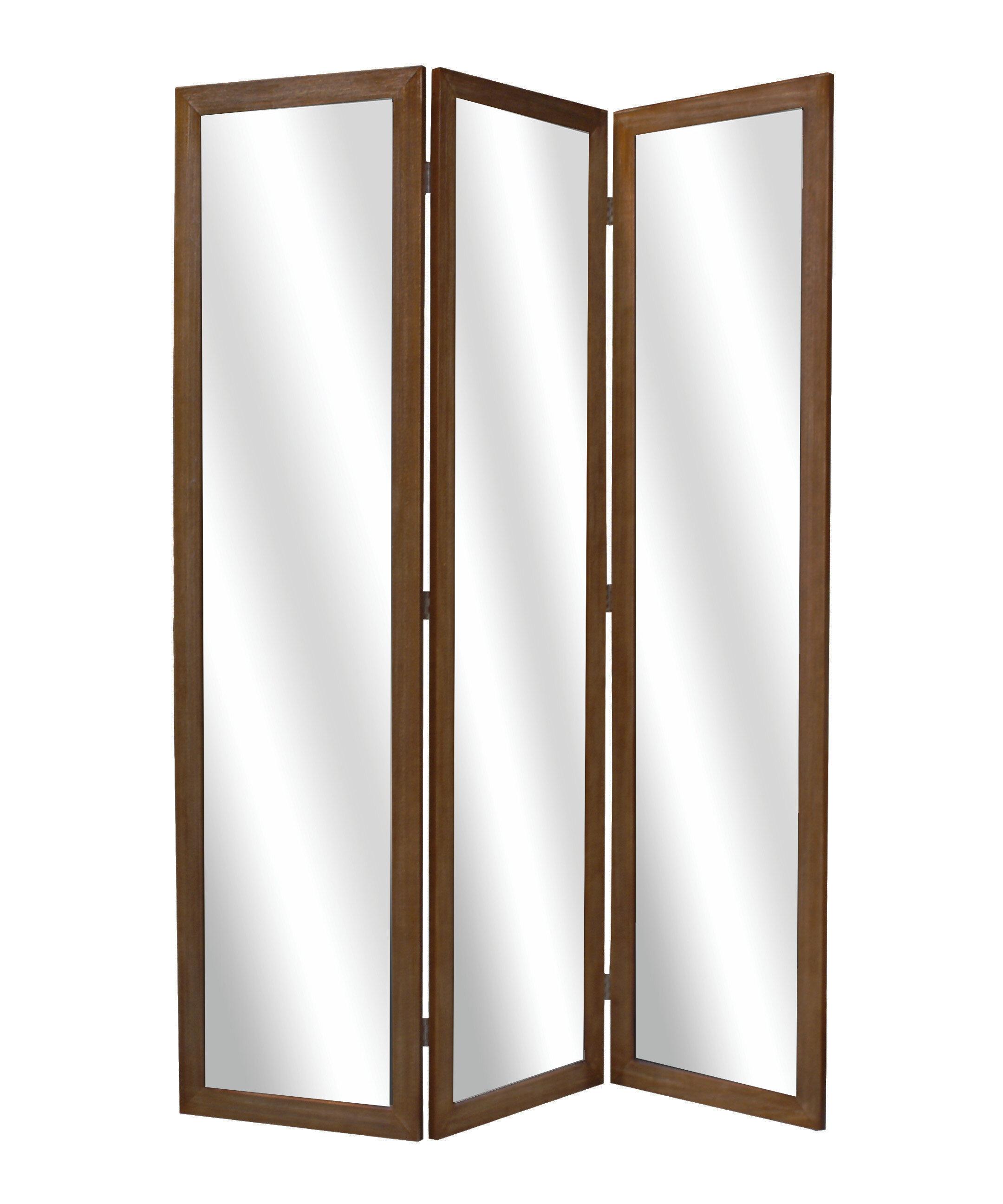Screen gems binini mirror 3 panel room divider wayfair