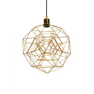 Sidereal 1-Light Geometric Pendant by Ren-Wil