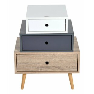 opulent ideas modern side tables. Modern 3 Drawer Bedside Table Very Narrow Tables  Wayfair co uk