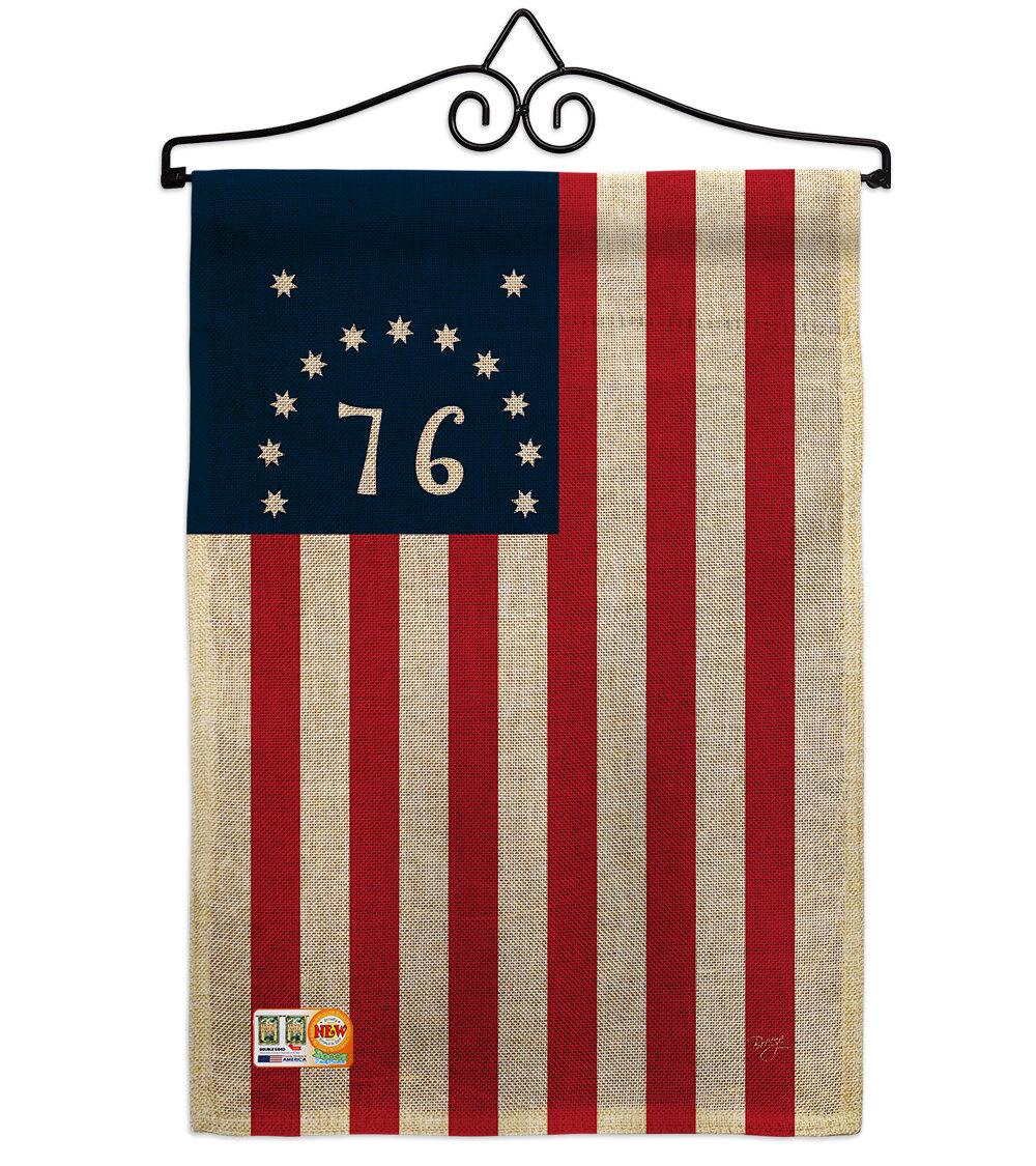 Breeze Decor Bennington 2 Sided Burlap 19 X 13 In Garden Flag Wayfair