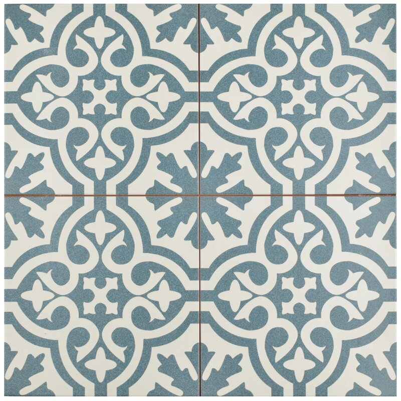 Alameda 17 63 Quot X 17 63 Quot Ceramic Field Tile In Blue White