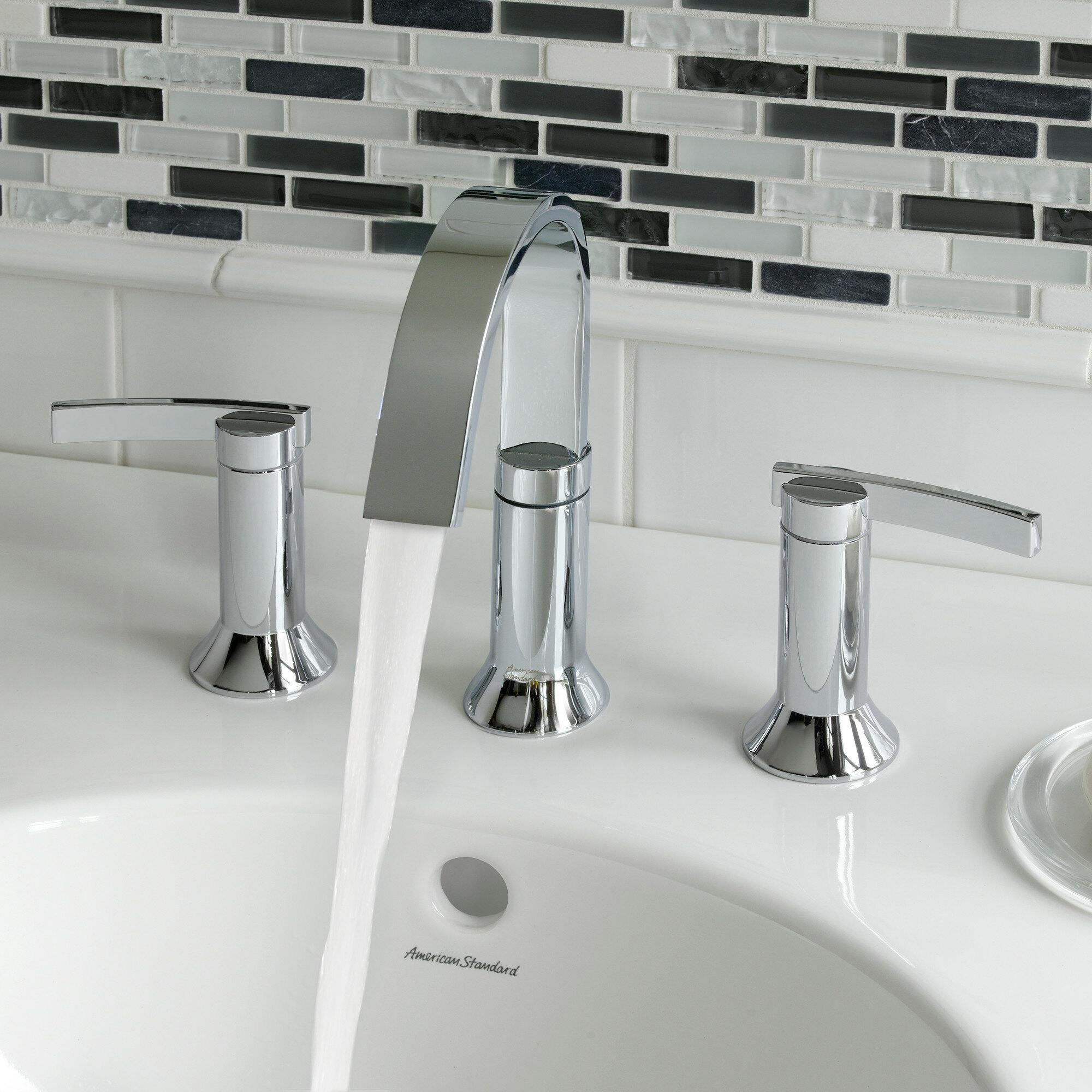 American Standard Berwick High Arc Widespread Bathroom Faucet with ...