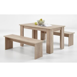 Hannah Dining Set With 2 Benches By 17 Stories