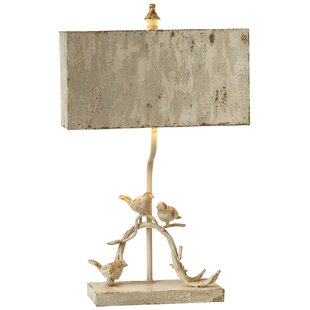 Searching for Skillings Distressed Bird on Branch 27 Table Lamp By August Grove