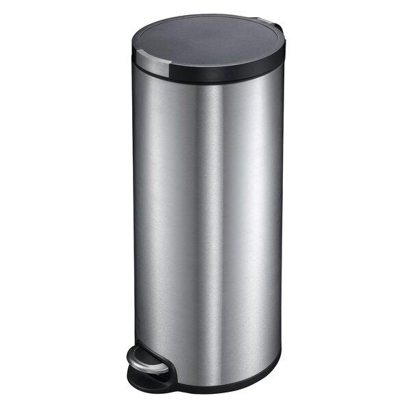 eko handsfree 13 gallon stepon stainless steel trash can u0026 reviews wayfair