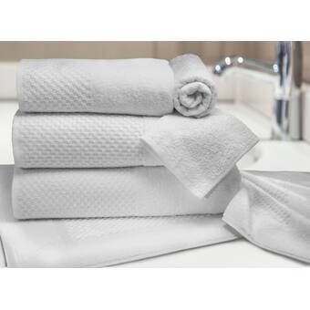 "Poly//Cotton HILTON Hand Towels Pack of 12 Highly Absorbent 13"" x 13/""  White"