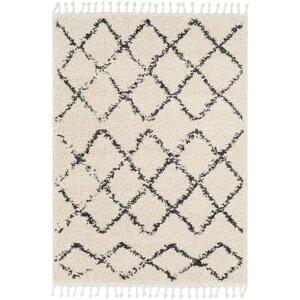 Barlett Modern Bohemian Rectangle Beige/Charcoal Area Rug