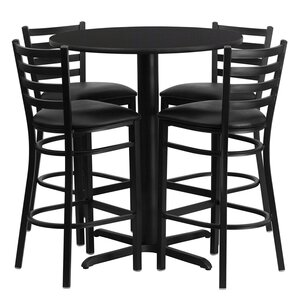 Minghui 5 Piece Dining Table Set by Red B..
