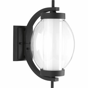 Best Laxman LED 1-Light Outdoor Wall Lantern By Red Barrel Studio