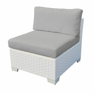 TK Classics Monaco Armless Patio Chair with Cushion (Set of 2)