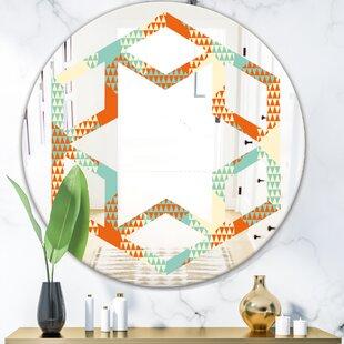 Hexagon Star Pattern VIII Modern Frameless Wall Mirror by East Urban Home