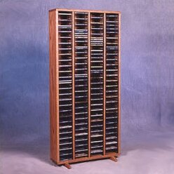 400 Series 320 CD Multimedia Storage Rack Wood Shed