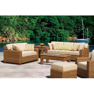 Chorio 9 Piece Deep Sunbrella Seating Group with Cushions