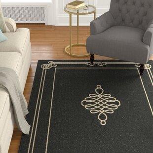 Octavius Black/Creme Indoor/Outdoor Area Rug By Charlton Home
