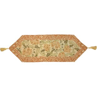 Allensville Glam Floral Woven Table Runner