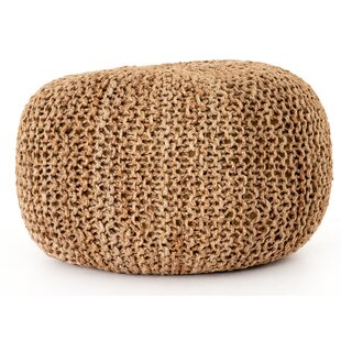 Dey Knit Pouf By Bungalow Rose