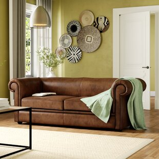 Caudill Genuine Leather 3 Seater Chesterfield Sofa By Ophelia & Co.