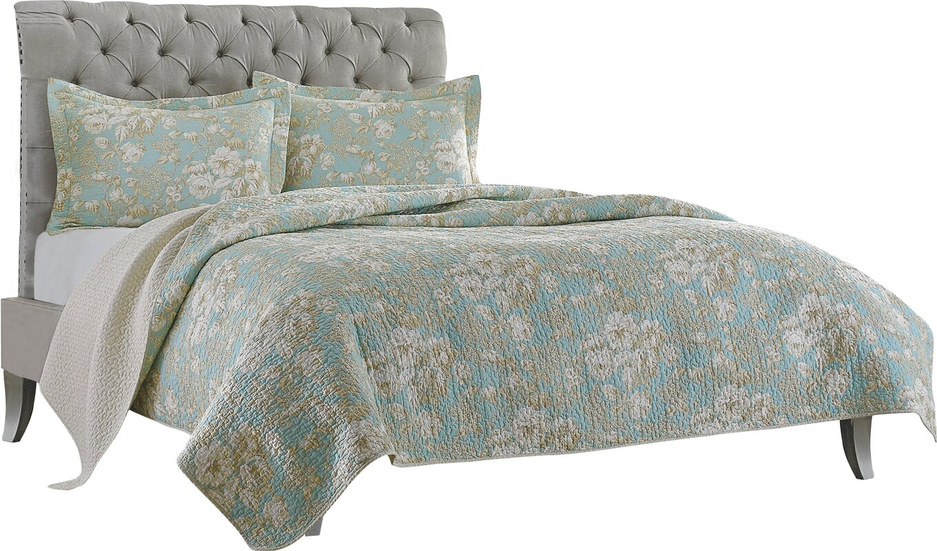 Laura Ashley Home Brompton Cotton Reversible Quilt Set by Laura ... : laura ashley king quilt - Adamdwight.com