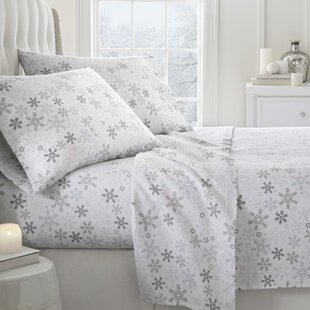 Barnesville Snow Pattern 4 Piece Sheet Set