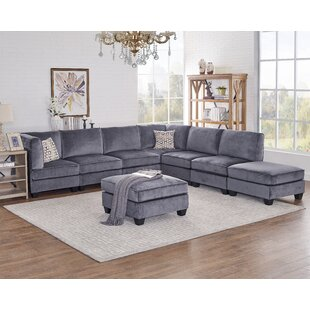 Elvira Modular Sectional with Ottoman by Ivy Bronx