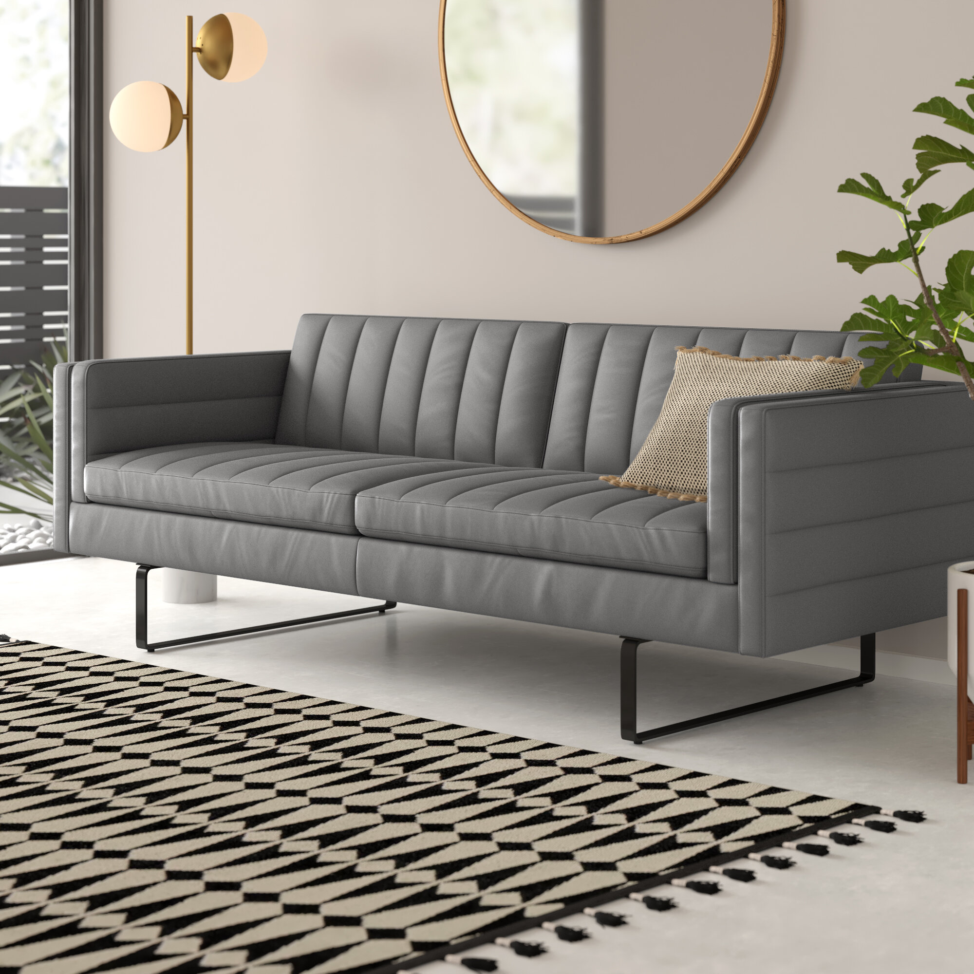 Brilliant Eliza Leather Sofa Gmtry Best Dining Table And Chair Ideas Images Gmtryco