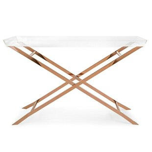 Mercer41 Fratessa Acrylic Tray Console Table