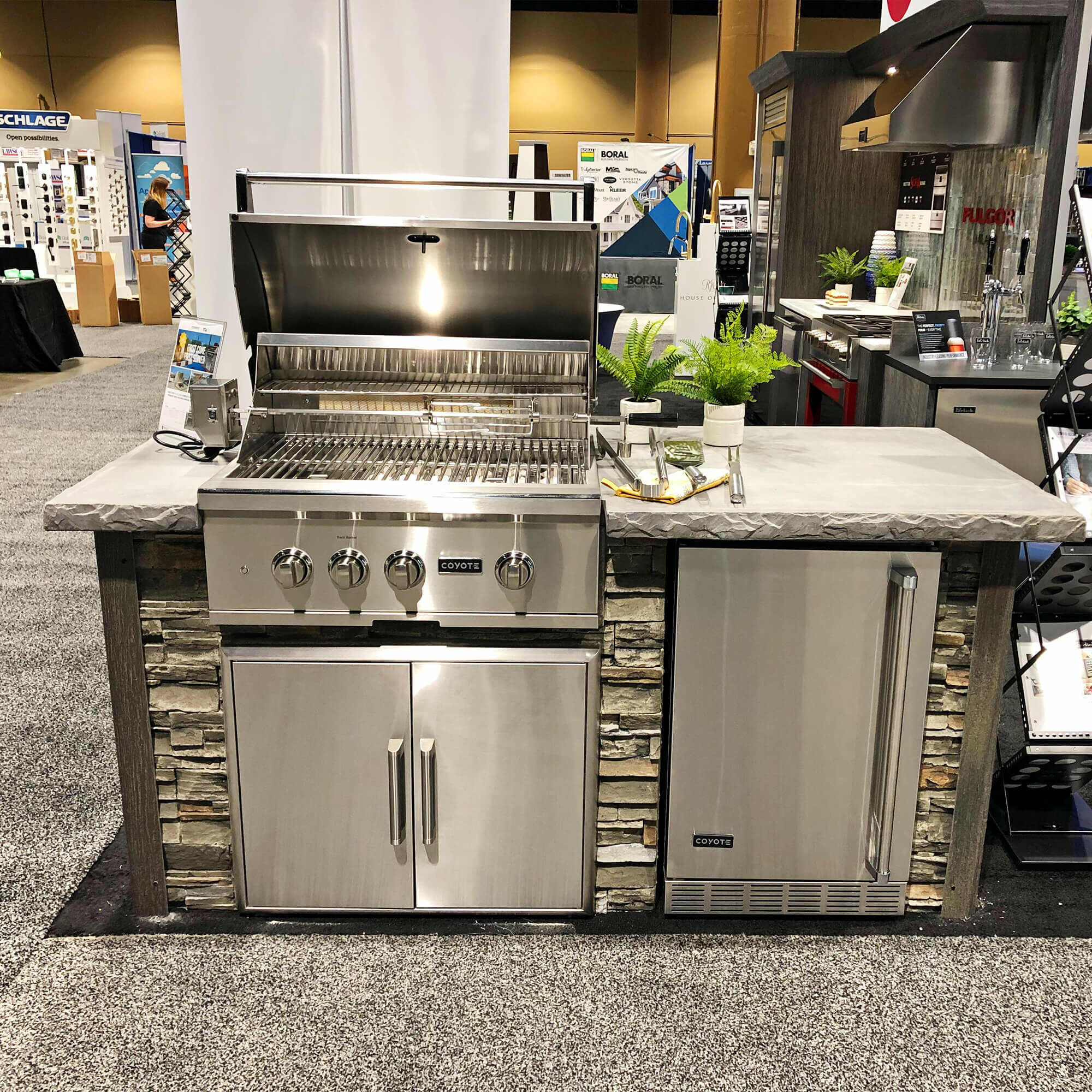 Rta Outdoor Living 72 4 Piece 4 Burner Natural Gas Bbq Grill Island