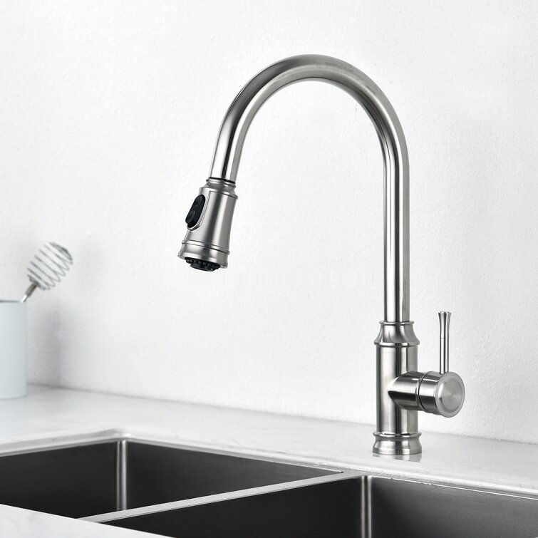 Ruiling Grarcy Pull Down Single Handle Kitchen Faucet Reviews Wayfair