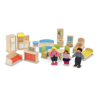 19 Piece Hi-Rise Dollhouse Set by Melissa & Doug