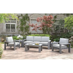 Flechsig 4 Piece Deep Seating Group With Cushions By Orren Ellis