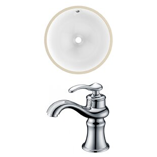 Best Reviews Ceramic Circular Undermount Bathroom Sink with Faucet and Overflow By Royal Purple Bath Kitchen