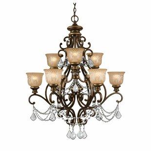 Astoria Grand Tusten 9-Light Shaded Chandelier