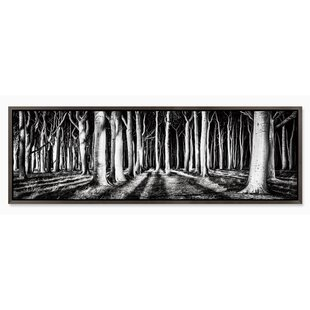 e5ed5437ee0  Black and White Path  Framed Photographic Print on Canvas in Gray Black