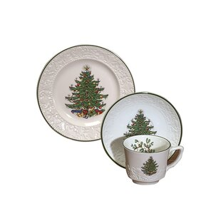 Original Christmas Tree Dickens Embossed Coffee and Dessert Set (Set of 3)  sc 1 st  Wayfair & Christmas Dinnerware Sets Youu0027ll Love | Wayfair