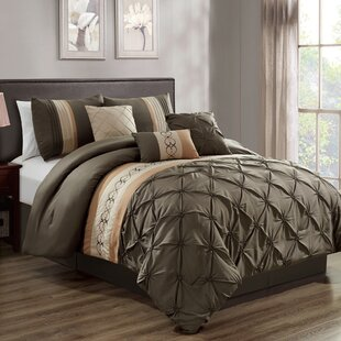 Winston Porter Umberger Embroidery 7 Piece Comforter Set