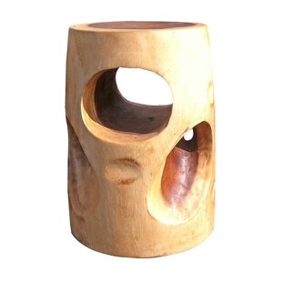 Asian Art Imports Natural Wood Cheese Stool