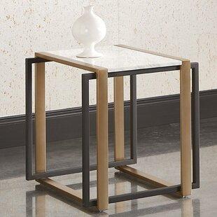 Garnet Marble End Table