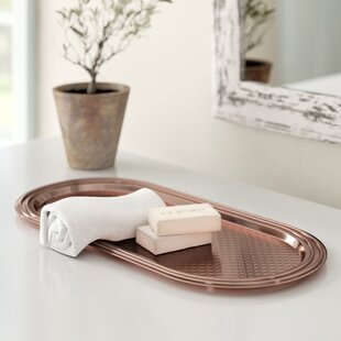 Looking for Bartel Hammered Copper Bathroom Accessory Tray By World Menagerie