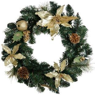 Christmas 46cm Christmas Wreath By The Seasonal Aisle