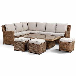 Bardin 9 Seater Rattan Corner Sofa Set By Sol 72 Outdoor